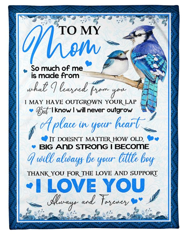 To My Mom Blanket So Much Of Me Is Made From What I Learned From You Bird Fleece Blanket, Gift Ideas For Mom - ATMTEE