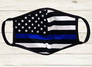 Thin Blue Line Police Face Cover - ATMTEE