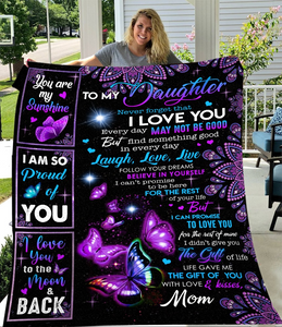 To My Daughter Never Forget That I Love You Every Day Sherpa Blanket - ATMTEE