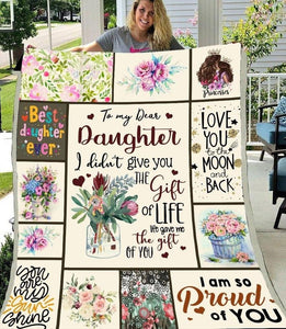 To My Dear Daughter I Didn't Give You The Gift Of Life Sherpa Blanket