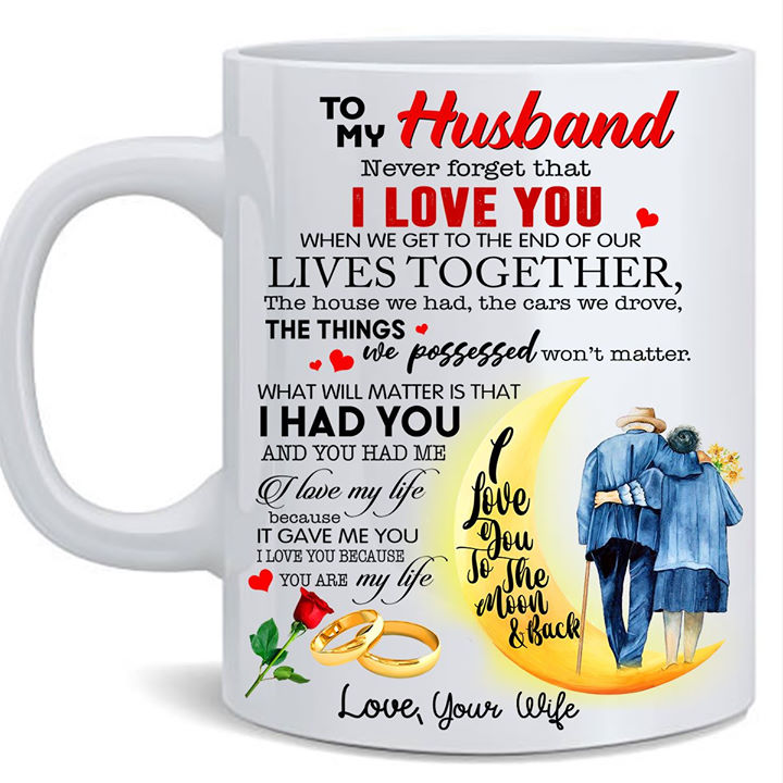 Valentine's Day Gifts For Husband Mug, To My Husband Never Forget That I Love You Mug - ATMTEE