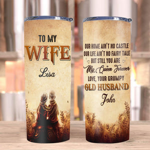 Personalized Tumblers, To My Wife Our Home Ain't No Castle Stainless Steel Tumbler - ATMTEE