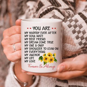 Valentine's Day Gift To My Wife You Are My Happily Ever After Sunflowers Mug - ATMTEE