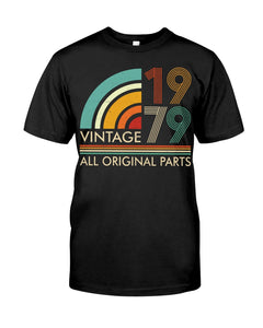 Vintage 1979, All Original Parts V3, Birthday Gifts Idea, Gift For Her For Him Unisex T-Shirt KM0704 - ATMTEE