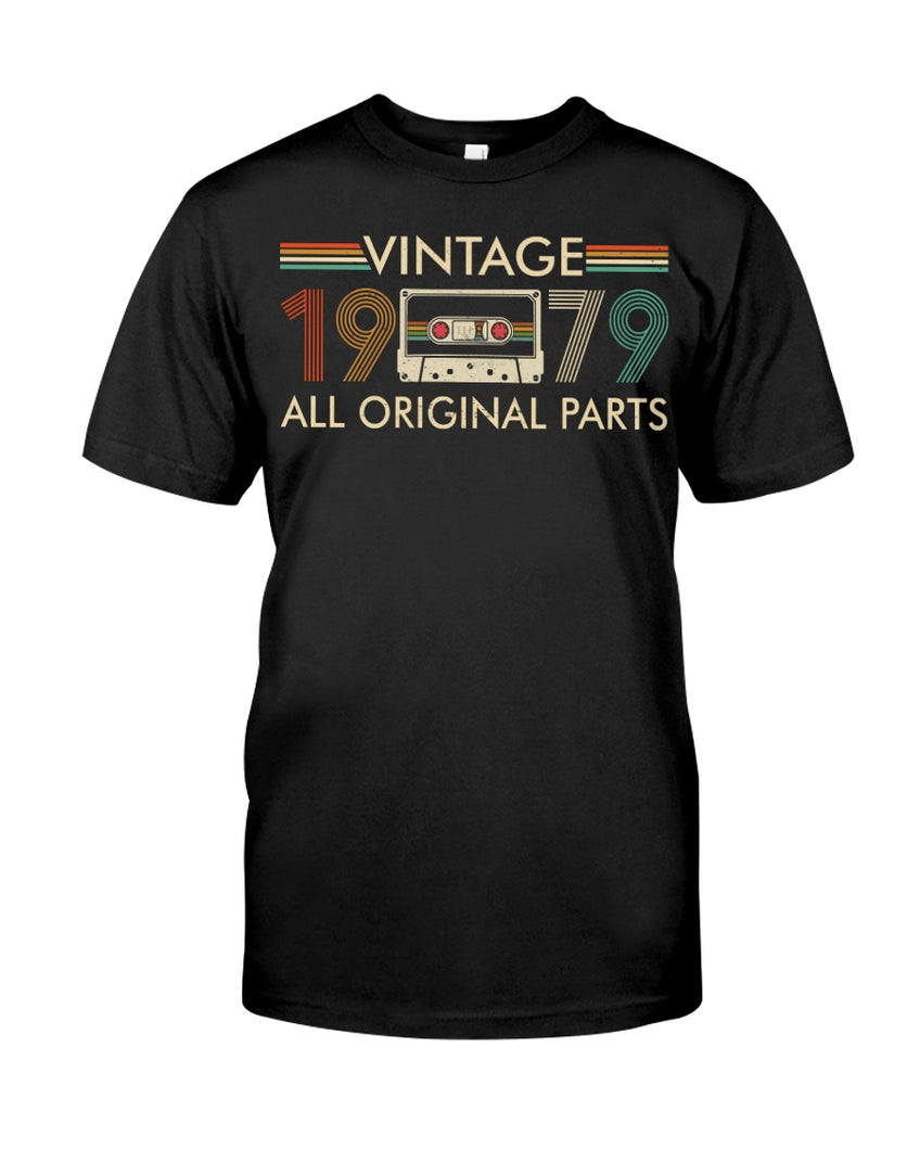 Vintage 1979, All Original Parts V5, Birthday Gifts Idea, Gift For Her For Him Unisex T-Shirt KM0704 - ATMTEE