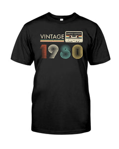 Vintage Cassette 1980, 41st Birthday Gifts For Him For Her, Birthday Unisex T-Shirt KM0704 - ATMTEE