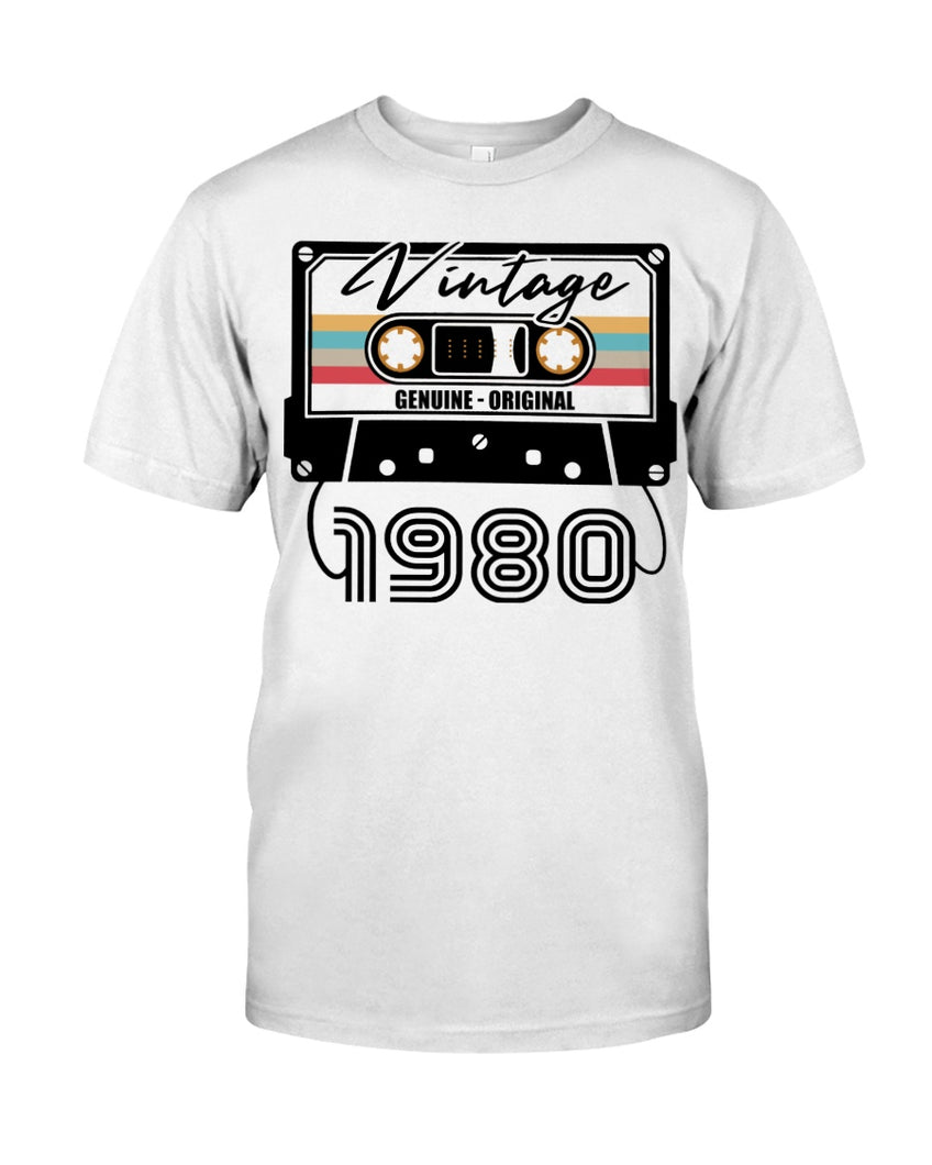 Vintage 1980 V2, 41st Birthday Gifts For Him For Her, Birthday Unisex T-Shirt KM0704 - ATMTEE