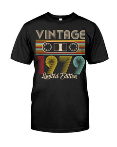 Vintage 1979 Limited Edition V3, Birthday Gifts Idea, Gift For Her For Him Unisex T-Shirt KM0704 - ATMTEE