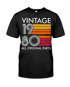 Vintage 1980, 41st Birthday Gifts For Him For Her, Birthday Unisex T-Shirt KM0704 - ATMTEE