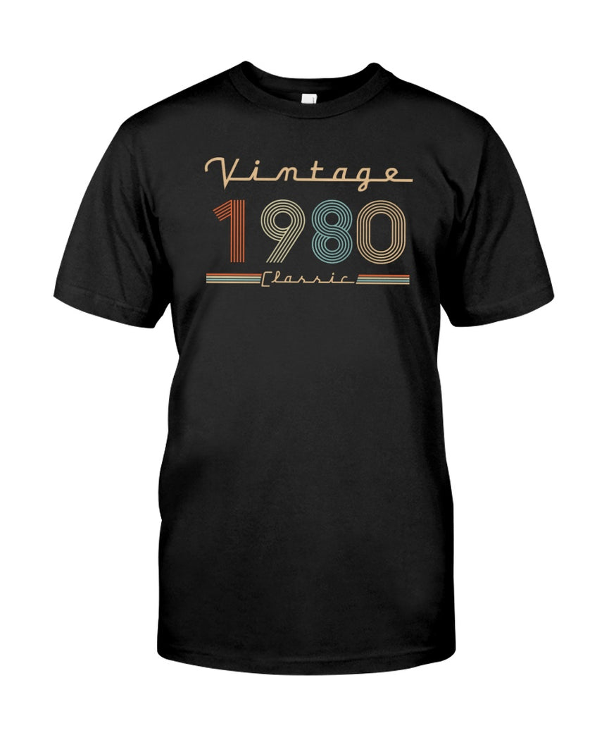 Vintage 1980 Classic, 41st Birthday Gifts For Him For Her, Birthday Unisex T-Shirt KM0704 - ATMTEE