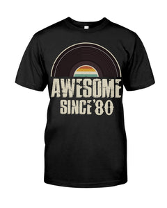 Awesome Since'80, Limited Edition 41st Birthday Gifts For Him For Her, Birthday Unisex T-Shirt KM0704 - ATMTEE