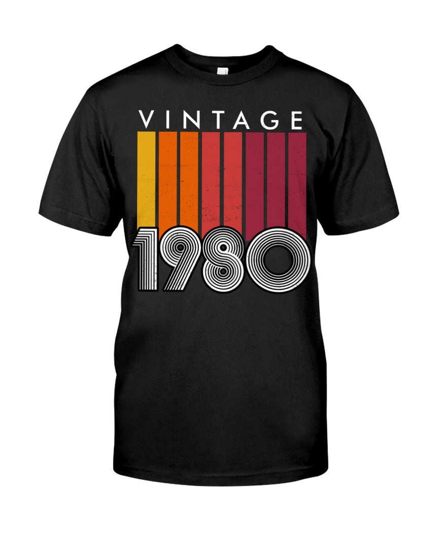 Vintage 1980, Limited Edition 41st Birthday Gifts For Him For Her, Birthday Unisex T-Shirt KM0704 - ATMTEE