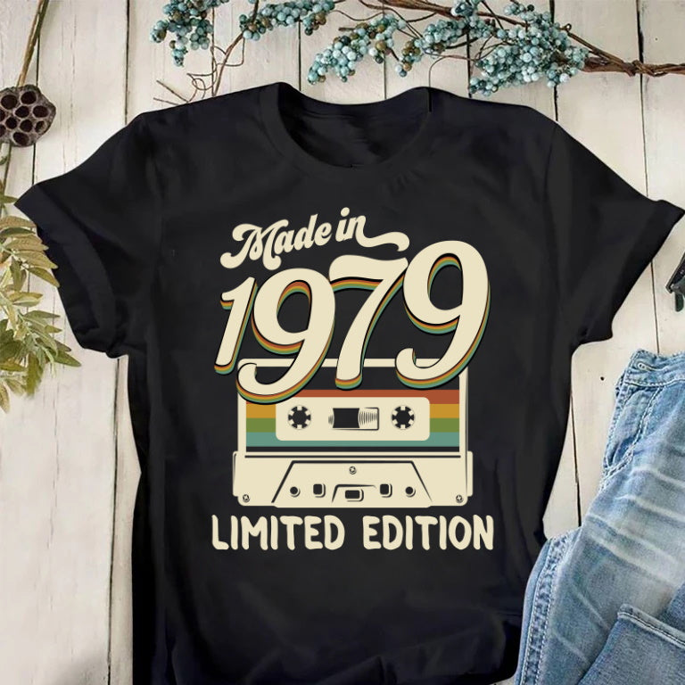 Made In 1979, Limited Edition, Birthday Gifts Idea, Gift For Her For Him Unisex T-Shirt KM0704 - ATMTEE