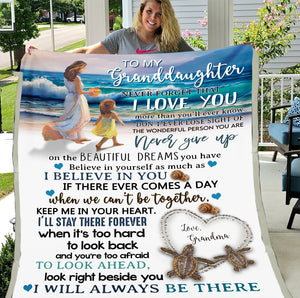 Personalized Blanket To My Granddaughter Never Forget That I Love You More Than You'll Ever Know Fleece Blanket - ATMTEE
