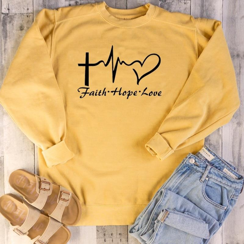 Faith Hope Love, Gift For Lover Sweatshirt Long Sleeve - ATMTEE