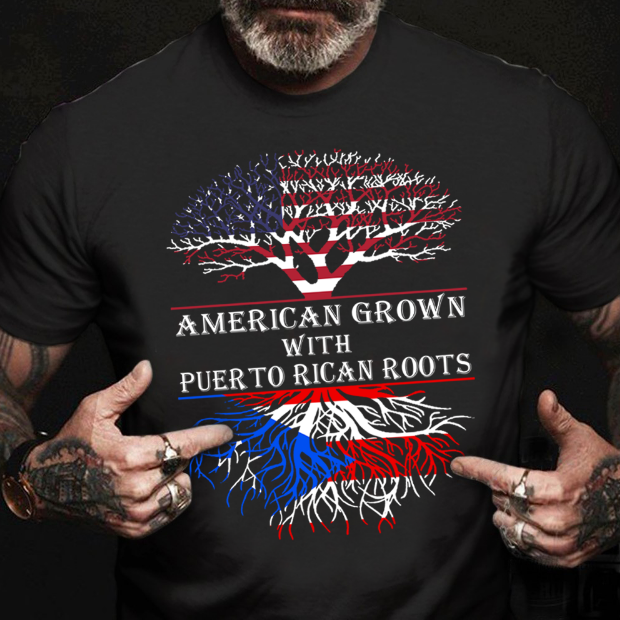 American Grown With Puer To Rican Roots T-shirt HA1506 - ATMTEE