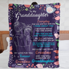 Personalized To My Granddaughter Everyday That You Are Not With Me I Think About You, Love Grandma Fleece Blanket - ATMTEE