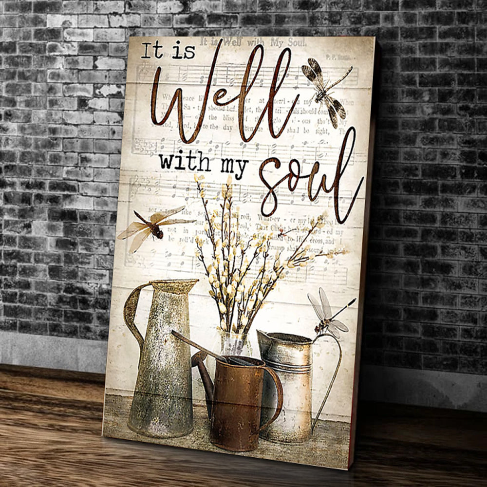 It Is Well With My Soul Matte Canvas - ATMTEE