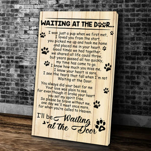 Waiting At The Door I'll Be Waiting At The Door Matte Canvas - ATMTEE
