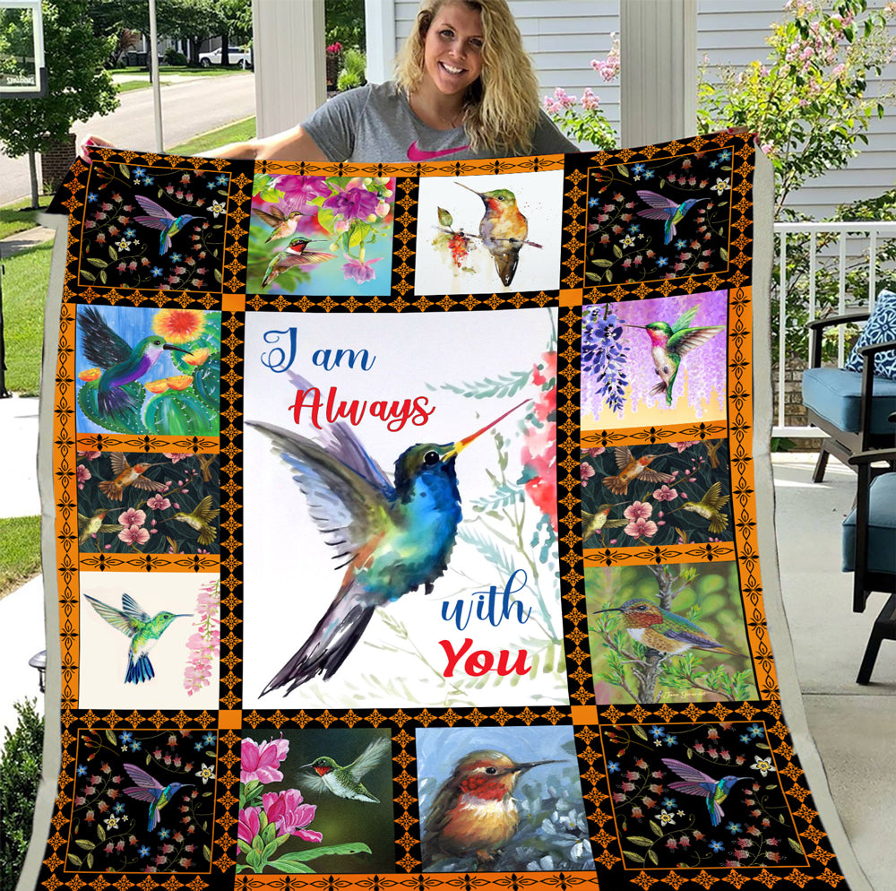 I Am Always With You Hummingbird Fleece Blanket - ATMTEE