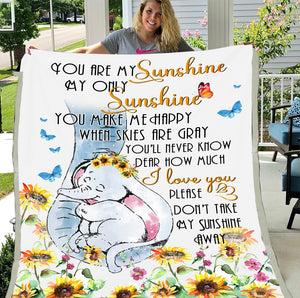 You Are My Sunshine My Only Sunshine  Fleece Blanket - ATMTEE