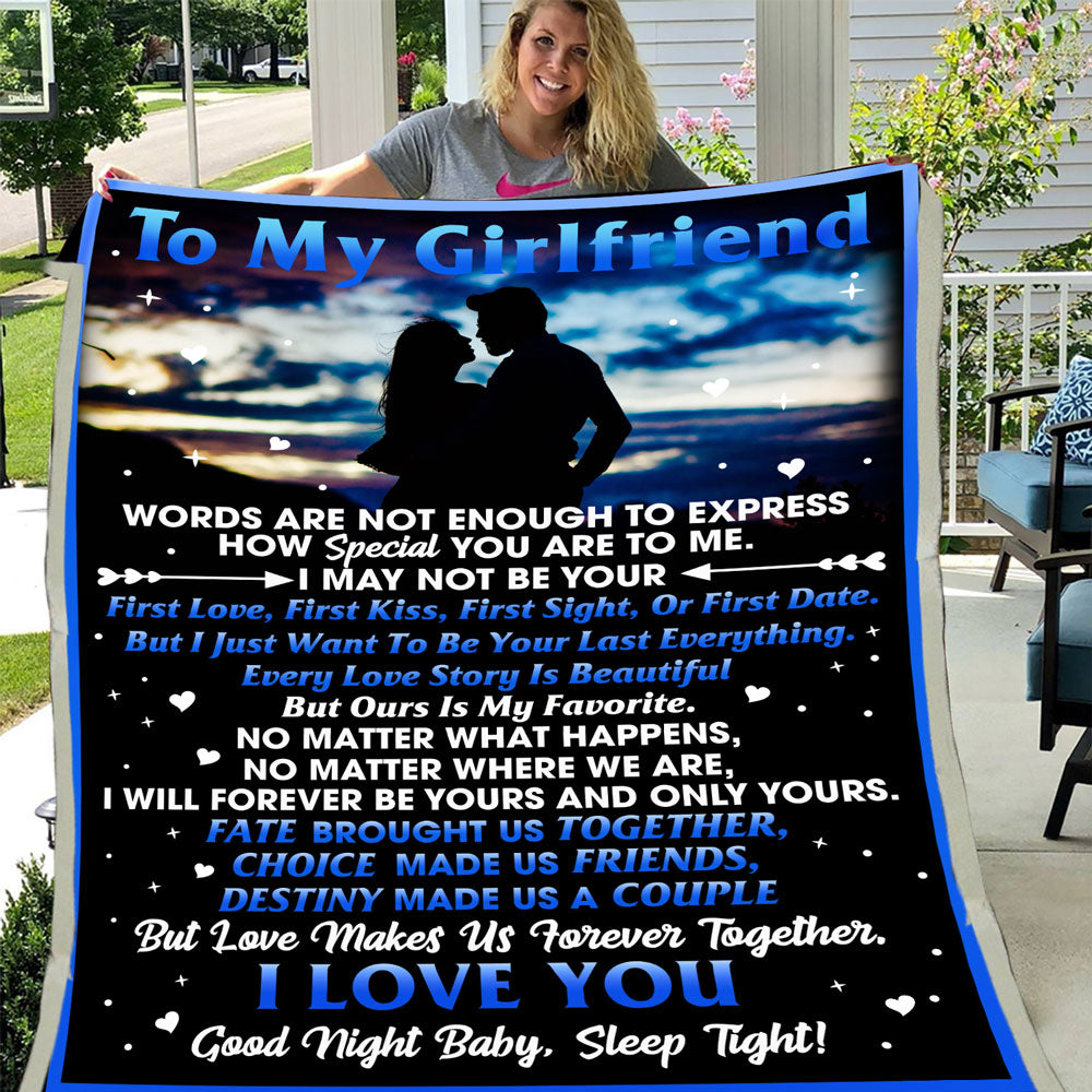 To My Girlfriend, Words Are Not Enough To Express How Special You Are To Me Fleece Blanket - ATMTEE