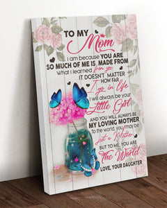 Mom Canvas, Gift For Mother's Day, To My Mom I Love You For All The Times Butterflies Canvas, Lovely Gift For Mom - ATMTEE