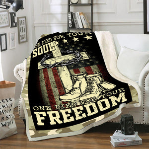 Veteran Blanket - Warrior, Blanket For Veteran, Us Veteran, Patriot, Quotes Blanket, Veteran ATM-USBl08 Fleece Blanket - ATMTEE