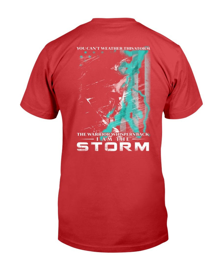 PTSD Awareness Shirt The Warrior Whispers Back I Am The Storm T-Shirt - ATMTEE
