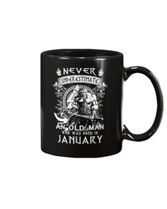 Never Underestimate An Old Man Who Was Born In January Mug - ATMTEE