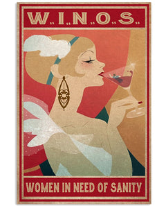 W.I.N.O.S Women In Need Of Sanity Matte Canvas - ATMTEE