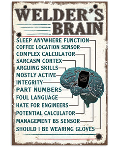 Welder's Brain Sleep Anywhere Function Matte Canvas - ATMTEE