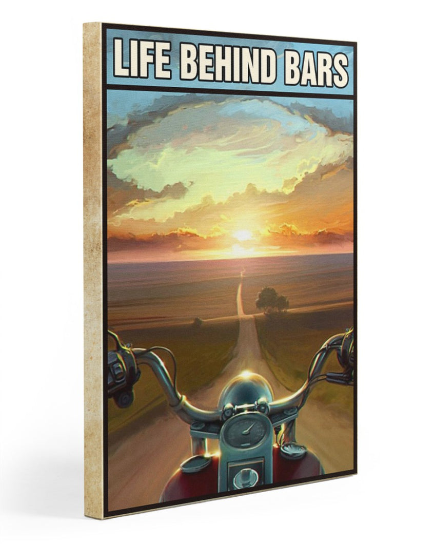 Biker Canvas Life Behind Bars Matte Canvas - ATMTEE