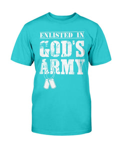 Army Veteran Enlisted In God's Army T-Shirt - ATMTEE