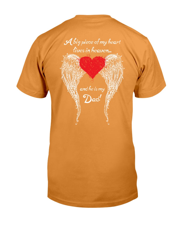 A Big Piece Of My Heart Lives In Heaven T-Shirt, Gift For Father's Day T-Shirt - ATMTEE