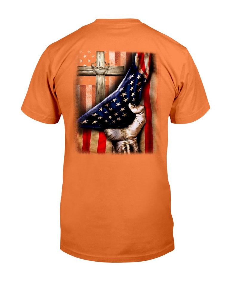 America Shirt Behind The flag T-Shirt - ATMTEE