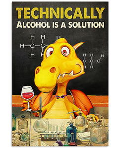 Wine Canvas Technically Alcohol Is A Solution Matte Canvas - ATMTEE