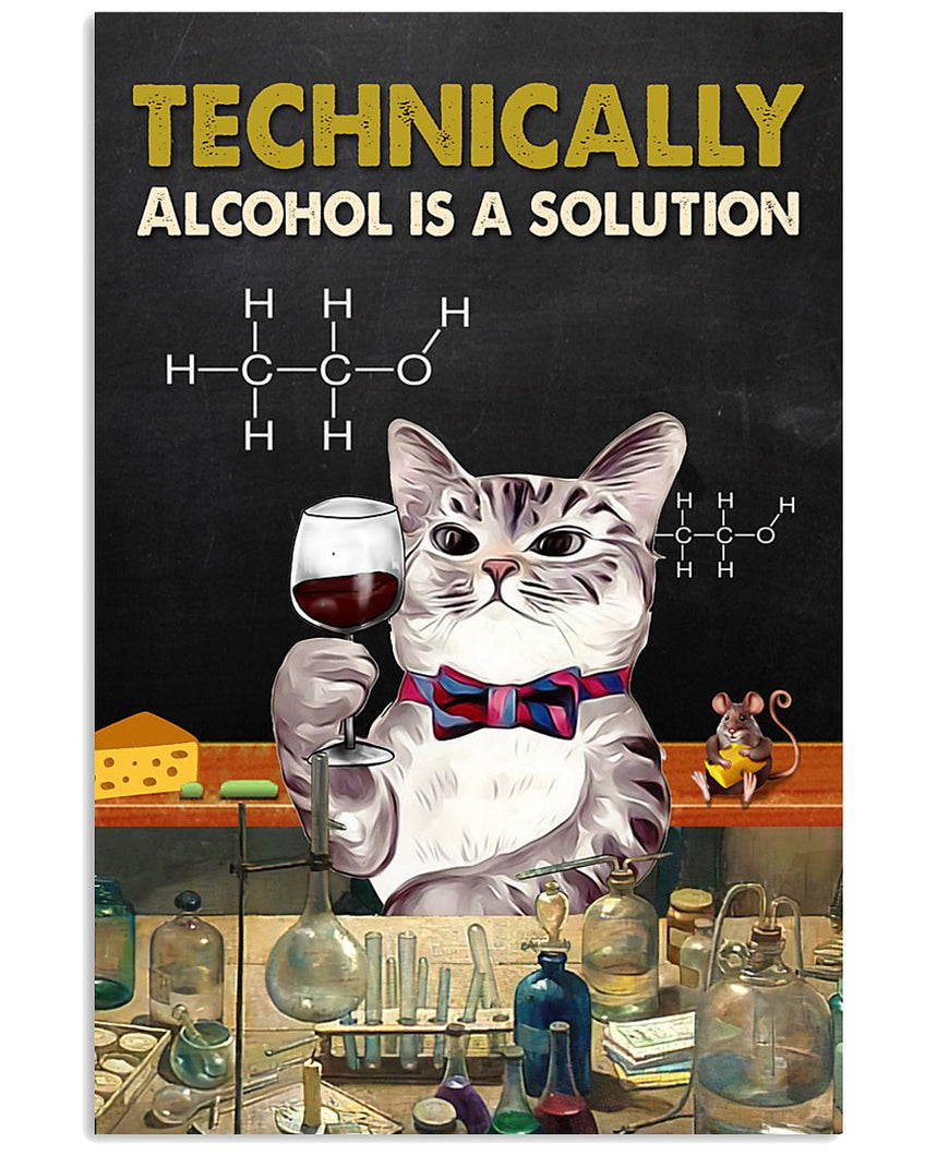 Wine Canvas Technically Alcohol Is A Solution 01 Matte Canvas - ATMTEE