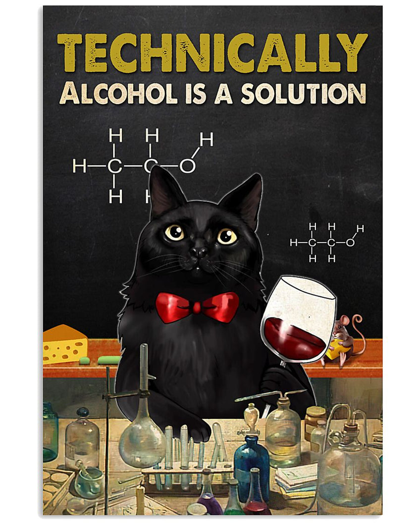 Wine Canvas Technically Alcohol Is A Solution 02 Matte Canvas - ATMTEE