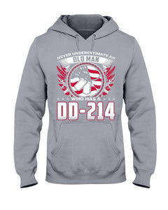 Never Underestimate An Old Man Who Has A DD-214 Hoodies - ATMTEE