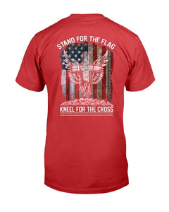 Stand For The Flag Kneel For The Cross T-Shirt - ATMTEE