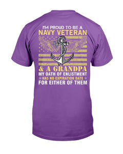 I'm Proud To Be A Navy Veteran And A Grandpa T-Shirt - ATMTEE