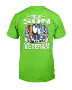 Proud Son Of A Korean War Veteran Military Family Gift T-Shirt - ATMTEE