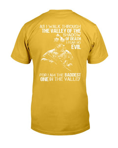 As I Walk Through The Valley Of The Shadow Of Death I Fear No Evil ATM-USVET57 T-Shirt - ATMTEE