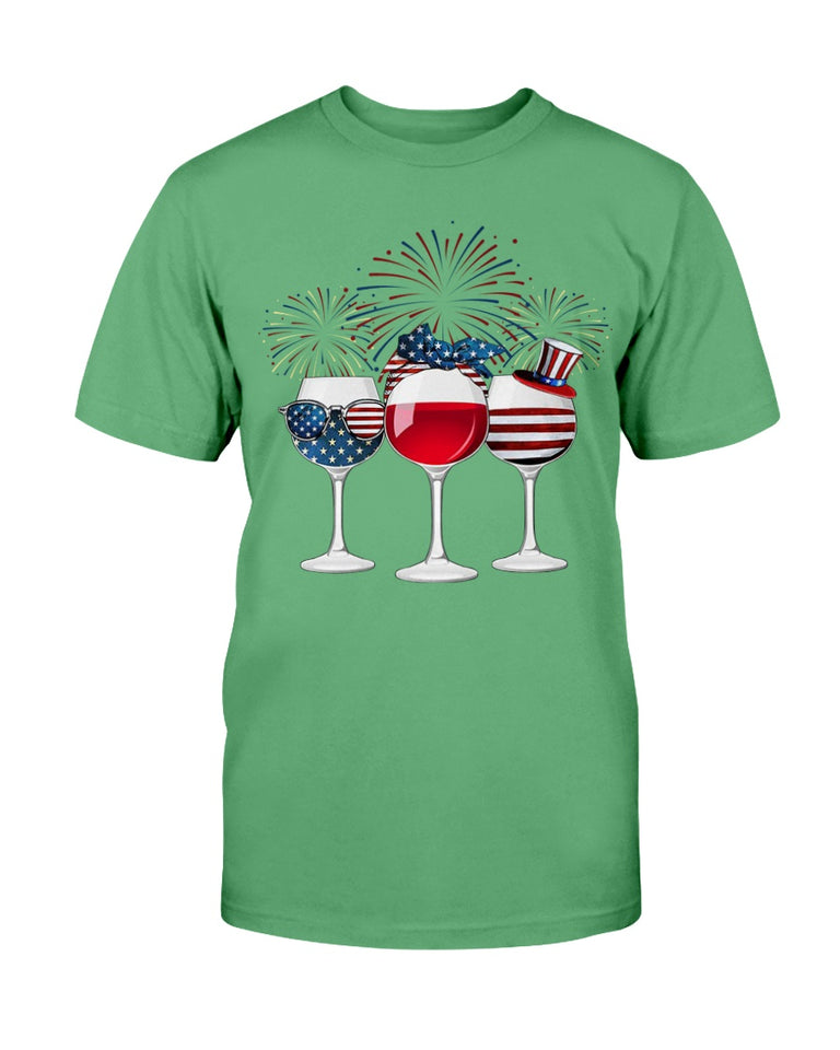 Patriotic Shirt, Patriot Wine Glasses, Patriot Day T-Shirt - ATMTEE