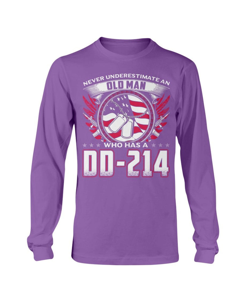 Old Man Who Has DD-214 Long Sleeve - ATMTEE