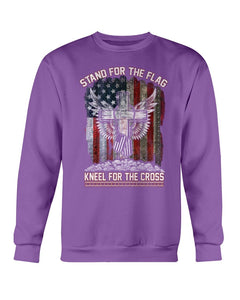 Stand For The Flag Kneel For The Cross Sweatshirt - ATMTEE