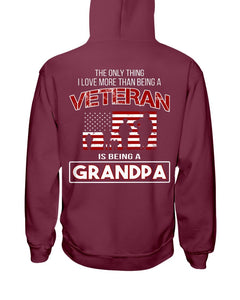 The Only Thing I Love More Thank Being A Veteran Is Being A Grandpa Hoodies - ATMTEE