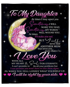 Personalized Blanket To My Daughter At Times I May Upset You, I Love You Gift For Daughter Mom, Birthday Fleece Blanket