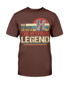 Dad The Man The Myth The Veteran Legend T-Shirt - ATMTEE